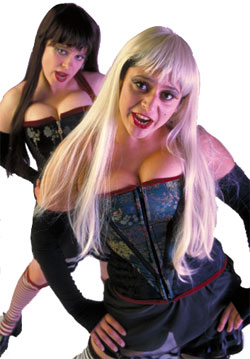 Promo shot of Tania Kyriakou and Alice Carter as The Soubrettes